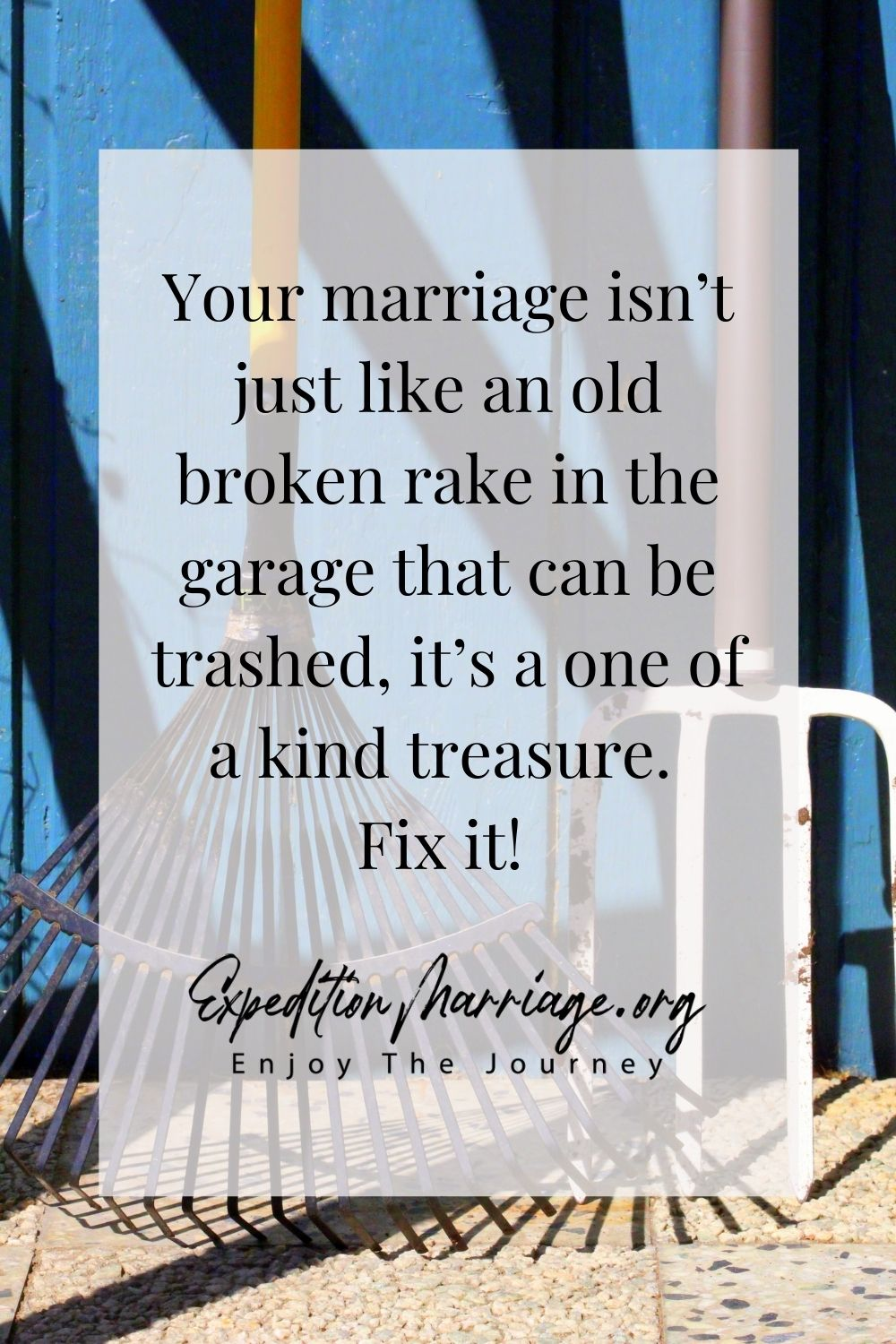 Emphasizing the importance of taking care of marriage